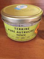 Terrine pure autruche nature 180 g